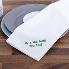 Personalised Embroidered White Tea Towel