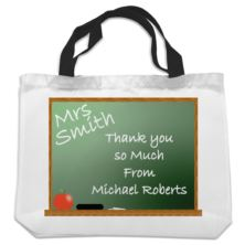 Personalised Teacher Shopping Bag - Chalkboard Design