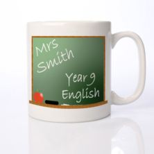 Personalised Teacher Mug - Chalkboard Design
