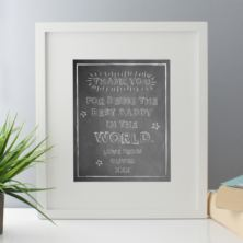 Personalised Best Daddy In The World Framed Print