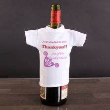 Thank You Personalised Wine Bottle T-Shirt