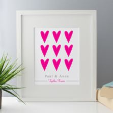 Together Forever Personalised Framed Print - Pink or Blue