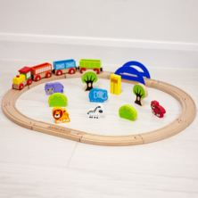 Personalised Wooden Train Set - Zoo Theme