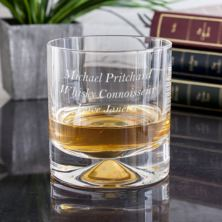 Personalised Dartington Dimple Double Lead Crystal Whisky Tumbler