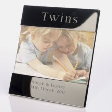 Engraved Twins Photo Frame