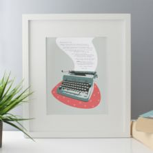 Personalised Love Letter Typewriter Framed Print