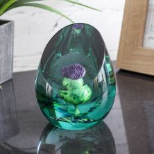 Scottish Jewel Of The Glen Paperweight By Caithness Glass