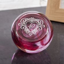 40 Years Celebration Paperweight by Caithness Glass