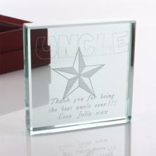 Personalised Uncle Glass Keepsake