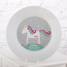 Personalised Magical Unicorn Plate