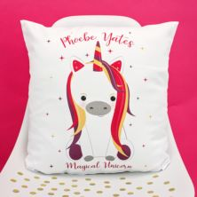 Personalised Unicorn Sparkle Cushion