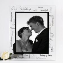 Large Our Wedding Glass Frame