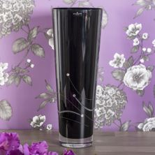 Dartington Noir Conical Large Vase