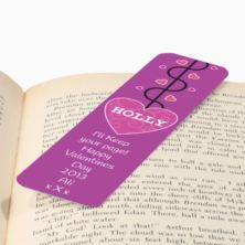 Personalised Valentines Day Bookmark