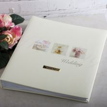 Personalised Rose Design Traditional Wedding Album