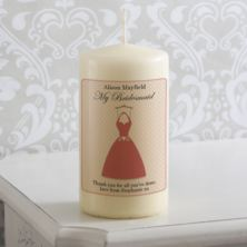 Personalised Bridesmaid Dress Candle