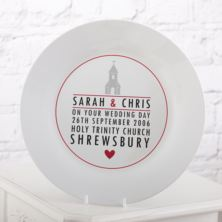 Personalised Wedding Plate - Church Design
