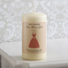 Personalised Flower Girl Dress Candle