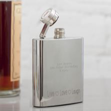 Personalised Welsh Dragon 3oz Hip Flask