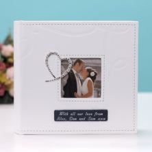 Engraved Crystal Heart Photo Album