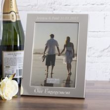 Personalised Our Engagement 5x7 Photo Frame