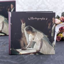 Signing The Register Wedding Photo Album In Keepsake Box