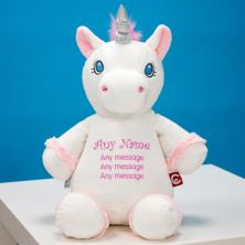 Personalised Embroidered Cubbies White Unicorn Soft Toy