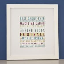 Personalised Why I Love Daddy Framed Print