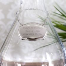 Personalised Stainless Steel Wine Decanter Label