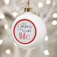 Personalised Beautiful Wife Christmas Bauble