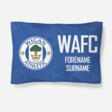 Personalised Wigan Athletic Crest Pillowcase