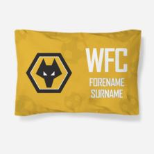 Personalised Wolves Crest Pillowcase