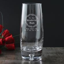 Personalised Wonderful Mum Bubble Base Vase