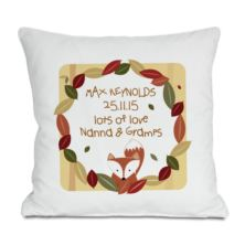 Personalised Woodland Fox Cushion