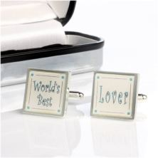 Personalised Worlds Best Lover Cufflinks