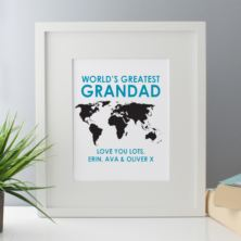 Personalised Worlds Greatest Grandad Framed Print