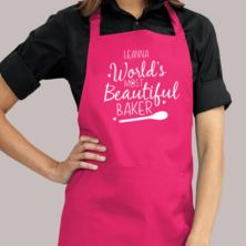 Personalised Worlds Most Beautiful Baker Apron