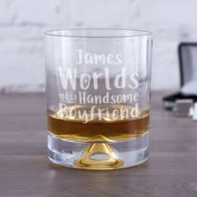 Personalised Worlds Most Handsome Boyfriend Whisky Tumbler