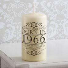 Personalised Year You Were Born Candle