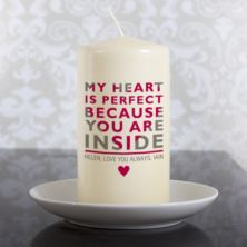Personalised My Heart Is Perfect Candle