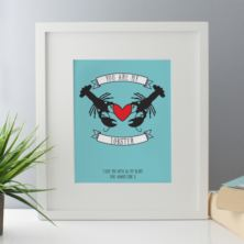 Personalised You Are My Lobster Framed Print