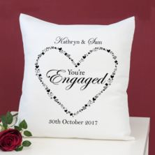 Personalised You're Engaged Heart Design Cushion