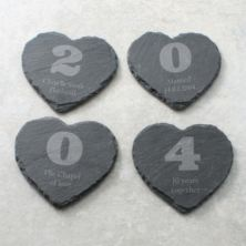 Your Year Set of 4 Personalised Slate Coasters