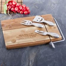 Personalised Cheese Board With 3 Cheese Knives