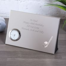 Personalised Luxury Golf Desk Clock
