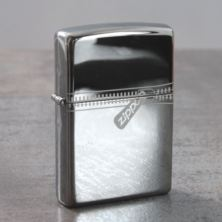 Personalised Zippo Black Ice Zipped Effect Lighter