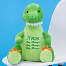 Personalised Embroidered Zippie Dinosaur