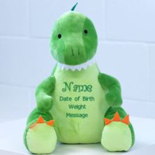 New Baby Embroidered Cuddly Dinosaur