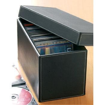 Black Faux Leather CD Box