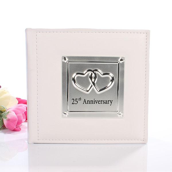 25th Anniversary Photo Album - Silver Wedding Anniversary Gifts